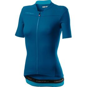 Castelli Anima 3 Jersey Korte Mouwen Dames, marine blue/celeste
